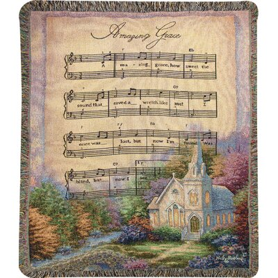 Church in the Country Amazing Grace Tapestry Cotton Throw