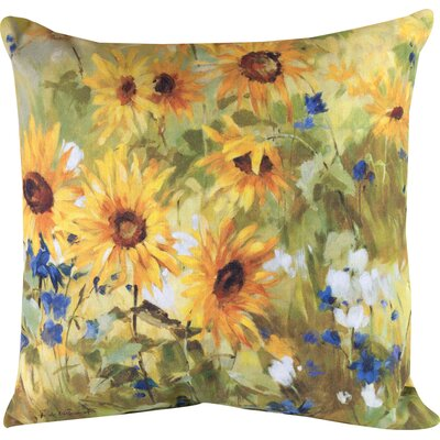 Sunflower Fields Knife Edge Throw Pillow