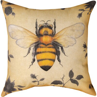 Insects Bee Knife Edge Throw Pillow