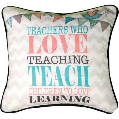 Teachers Who Love... Throw Pillow