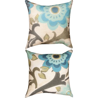 Peacock Blossom Knife Edge Throw Pillow