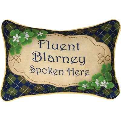 Irish Luck Word Lumbar Pillow