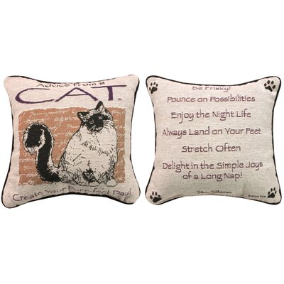 Advice from a Cat Throw Pillow