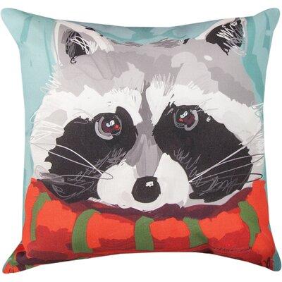 Woodland Raccoon Throw Pillow