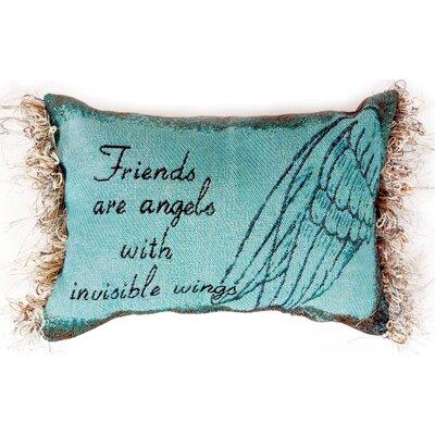 Friends are Angels Word Lumbar Pillow