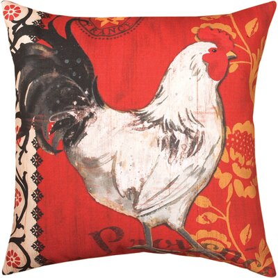 La Provence Roosters Knife Edge Throw Pillow