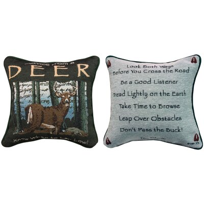 Advice from a Deer Throw Pillow