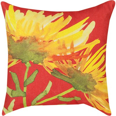 Blooming Knife Edge Throw Pillow