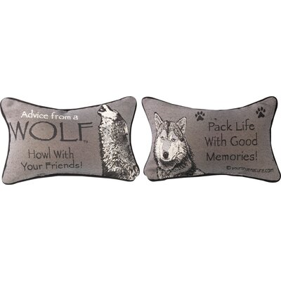 Advice from a Wolf Word Lumbar Pillow