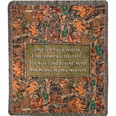 Camo Funeral Tapestry Cotton Throw