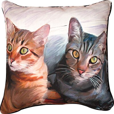 Sweepo & Toney 2 Cats Throw Pillow