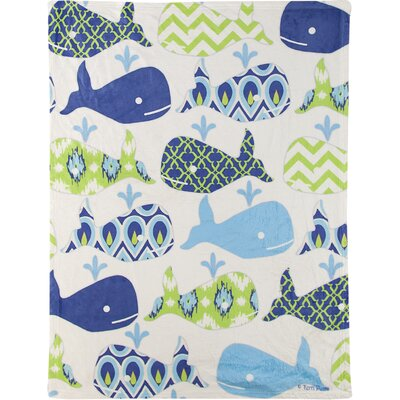 Splish Splash Coral Fleece Throw
