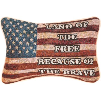 Land of the Free Word Lumbar Pillow