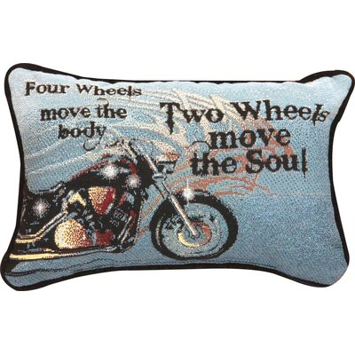 Four Wheels Move the Body Word Lumbar Pillow