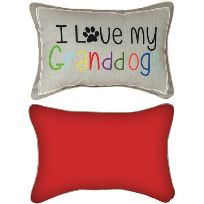 I Love My Granddogs Lumbar Pillow