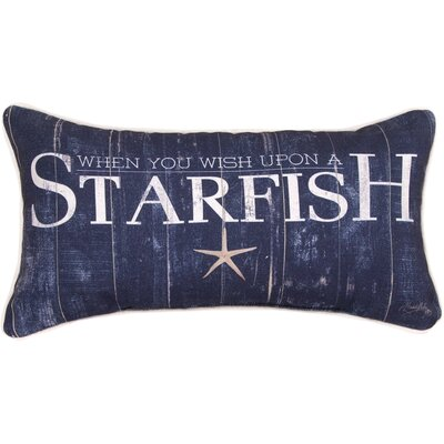 When You Wish Upon a Starfish Lumbar Pillow