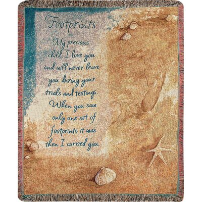 Footprints Tapestry Cotton Throw