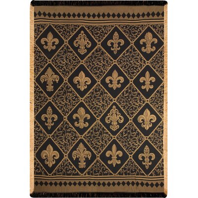 Fleur-de-lis Damask Throw