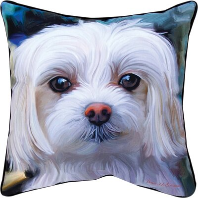 Little Lord Malty Maltese Throw Pillow