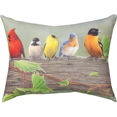 Birds on a Line 1 Knife Edge Lumbar Pillow