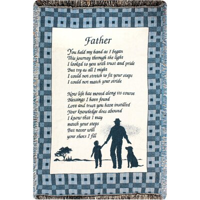 Father You Held 2 Layer Cotton Throw