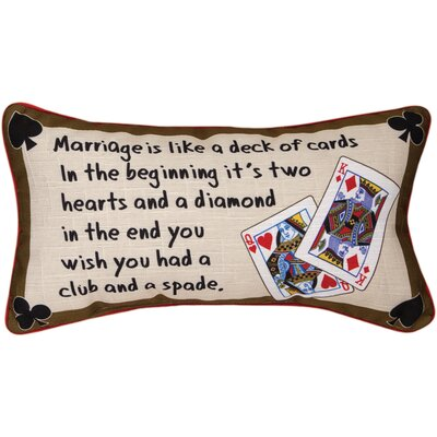 Marriage is...Deck of Cards Lumbar Pillow