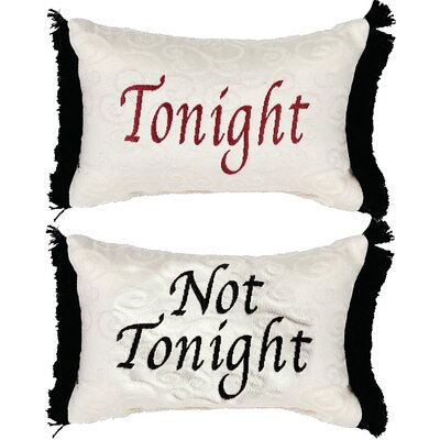 Tonight/Not Tonight Word Lumbar Pillow