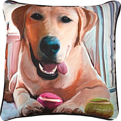 Tennis Anyone Lab Throw Pillow