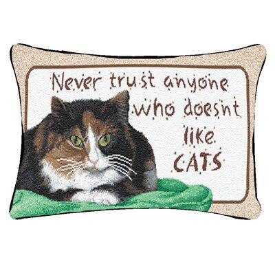 Never Trust Like Cats Word Lumbar Pillow