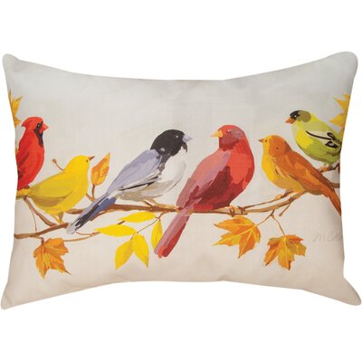 Flocked Together in the Fall Knife Edge Lumbar Pillow Size: 18 H x 24 W x 4 D