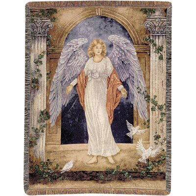 Guardian Angel Tapestry Cotton Throw