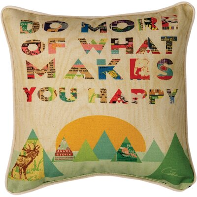 Do More of What Makes You Happy Cotton Throw Pillow