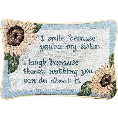 I Smile Because Word Lumbar Pillow