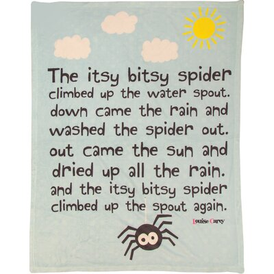 Its Bitsy Spider Coral Fleece Throw