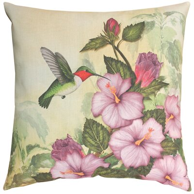 Happy Hummingbird Knife Edge Throw Pillow