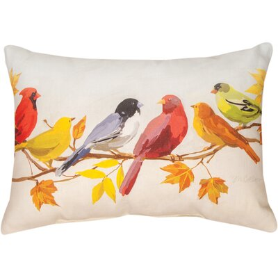 Flocked Together in the Fall Knife Edge Lumbar Pillow Size: 13 H x 18 W x 3 D