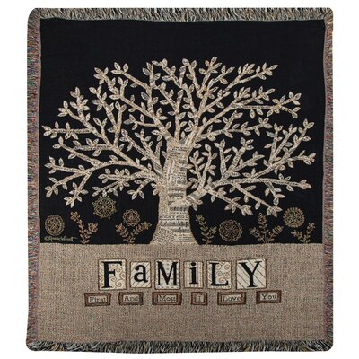 Family Tapestry Cotton Throw