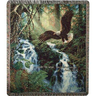 Eagles Flight Verse Cotton Throw