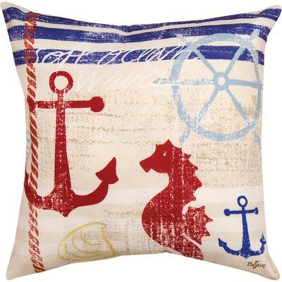 Nautical Breeze Seahorse Knife Edge Throw Pillow