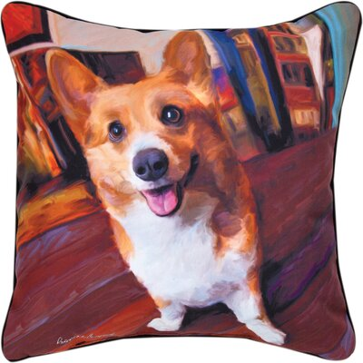 Corgi Get Low Throw Pillow