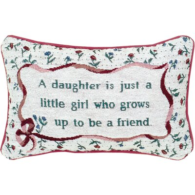 Daughter Word Lumbar Pillow