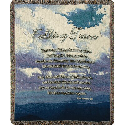 Falling Tears Tapestry Cotton Throw