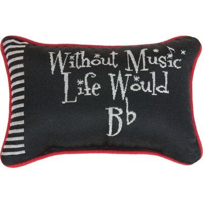 Take Note Word Lumbar Pillow