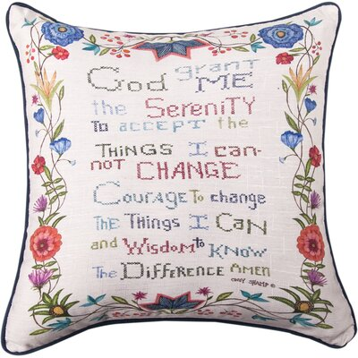 God Grant Me the Serenity Throw Pillow