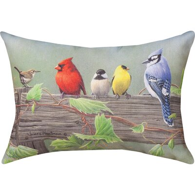 Birds on a Line 2 Knife Edge Lumbar Pillow