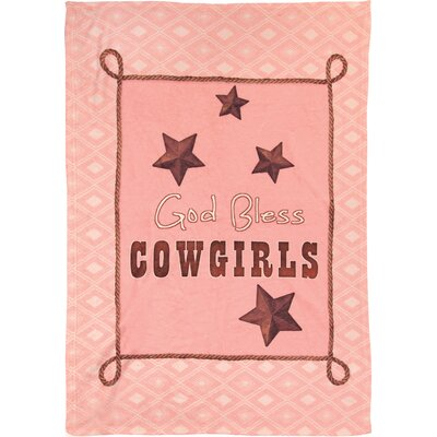 God Bless Cowgirls Fleece Throw