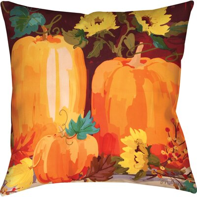 Pumpkins & Sunflowers Knife Edge Throw Pillow