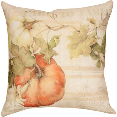 Pumpkins Farm to Table Knife Edge Throw Pillow