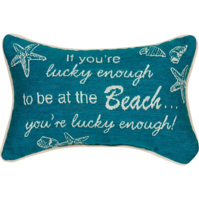 If You're Lucky Enough Word Lumbar Pillow