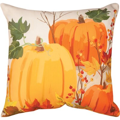 Fall Pumpkins Knife Edge Throw Pillow